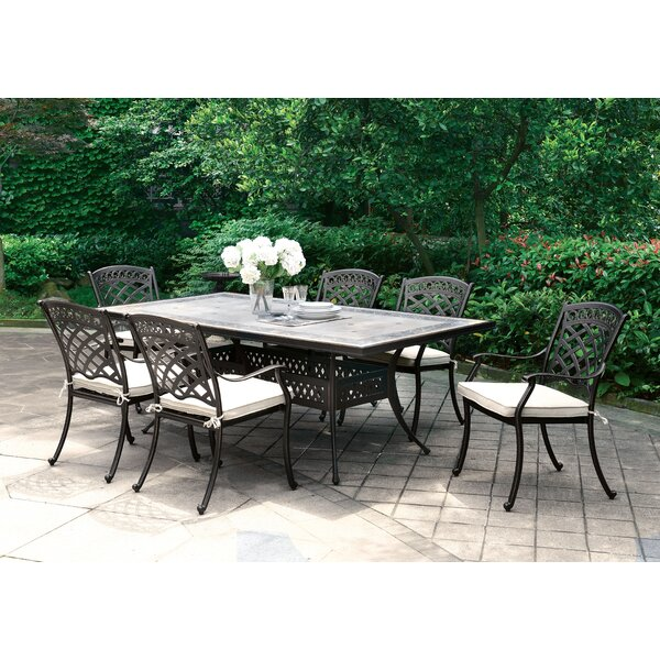 Springfield 7 Piece Dining Set by Canora Grey