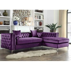 Neysa Sectional  sc 1 st  Wayfair : purple sectional sofa for sale - Sectionals, Sofas & Couches