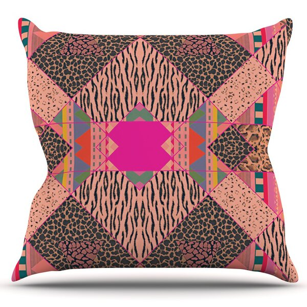New Wave Zebra by Vasare Nar Outdoor Throw Pillow by East Urban Home