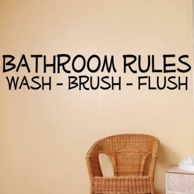 Bathroom Rules Washlush Wall Decal by Design With Vinyl