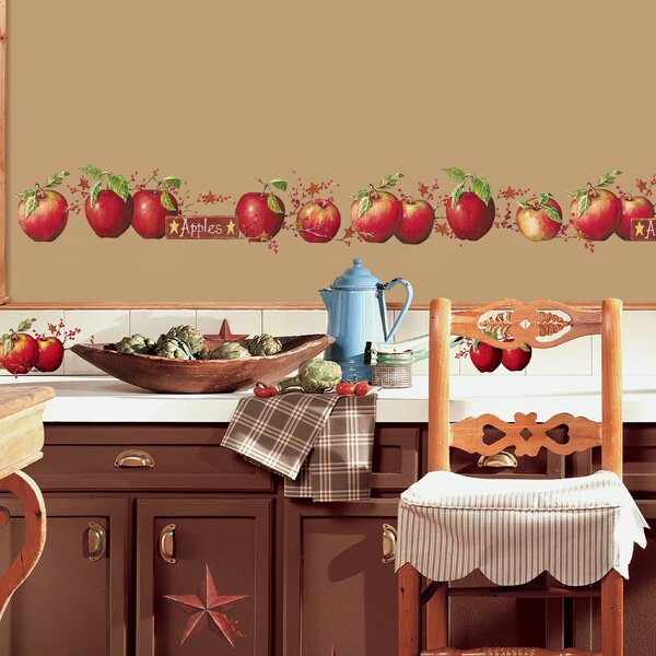 Room Mates Deco 40 Piece Country Apples Wall Decal by Room Mates