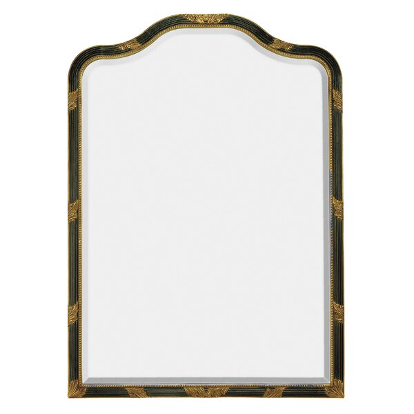 Traditional Curved Framed Antique Beveled Glass Wall Mirror by Majestic Mirror