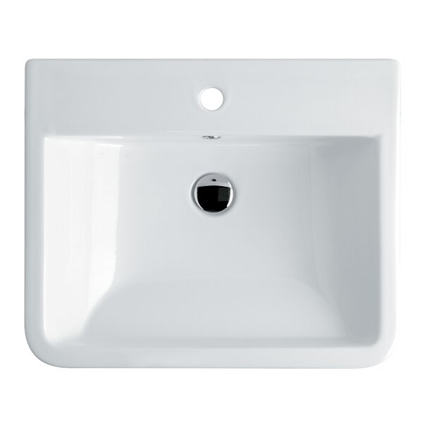 Chiante Ceramic Ceramic Rectangular Vessel Bathroom Sink with Overflow by WS Bath Collections