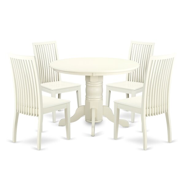 Sherlock 5 Piece Breakfast Nook Solid Wood Dining Set by August Grove