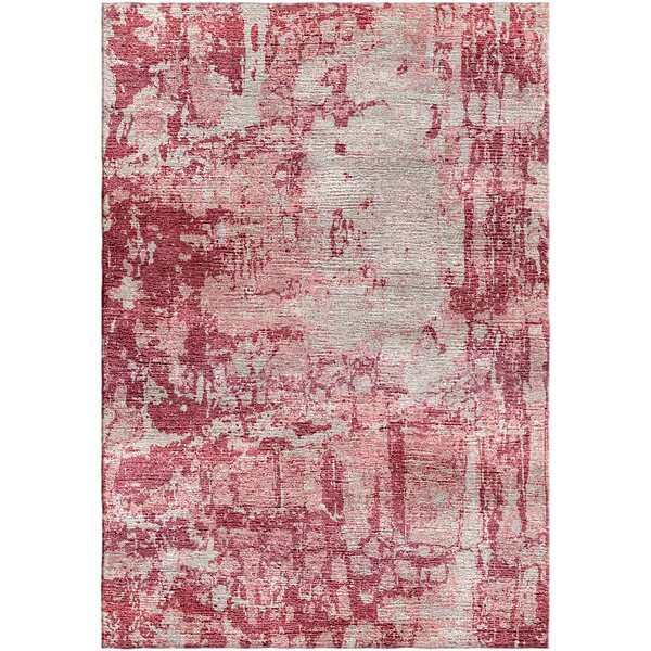 Ashford Handloom Red/Beige Area Rug by Ivy Bronx