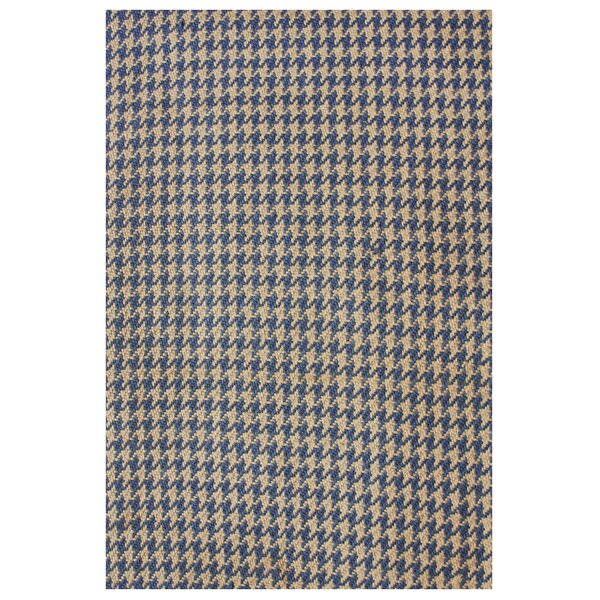 Natura Houndstooth Hand-Woven Blue/Brown Area Rug by nuLOOM