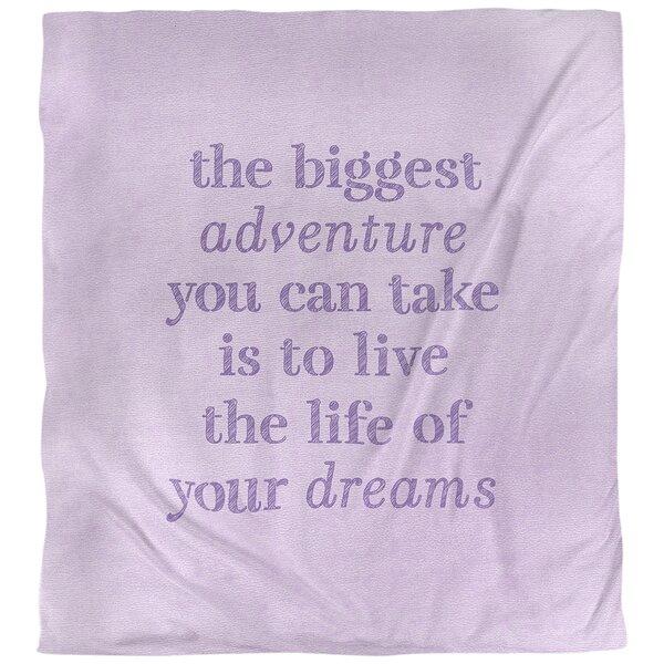 The Biggest Adventure Quote Single Duvet Cover