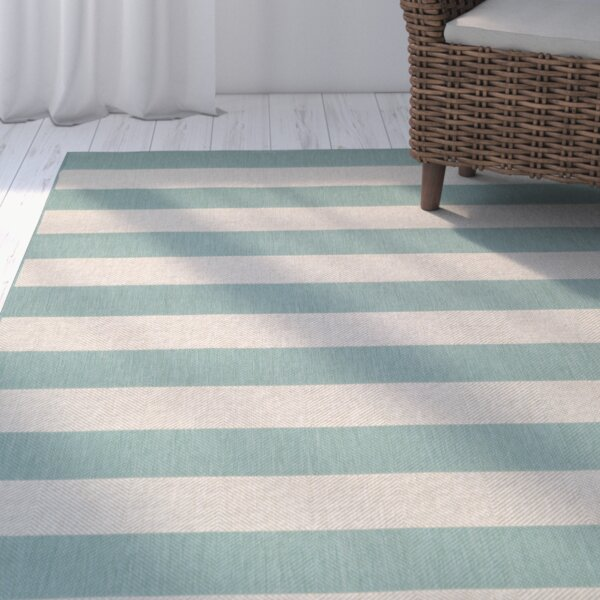 Gallinas Blue/Light Teal Indoor/Outdoor Area Rug by Beachcrest Home