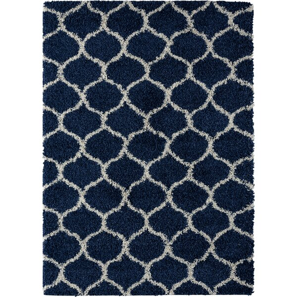 Langner Navy Area Rug by Wrought Studio