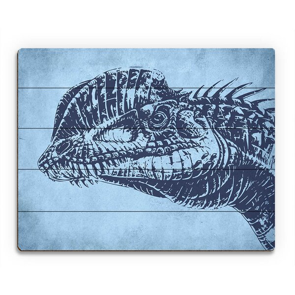 Dilophosaurus Graphic Art on Plaque by Click Wall Art