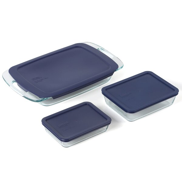 Easy Grab 6 Piece Bakeware Set by Pyrex