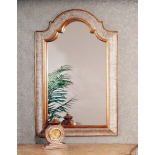 World Menagerie Sligh Arch/Crowned Top Gold and Silver Leaf Wall Mirror