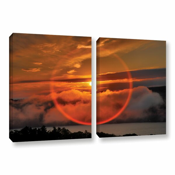 Circle Around Sun by Steve Ainsworth 2 Piece Photographic Print on Gallery Wrapped Canvas Set by ArtWall