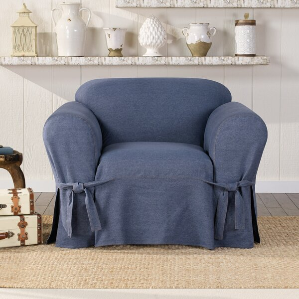 Authentic Box Cushion Armchair Slipcover by Sure Fit