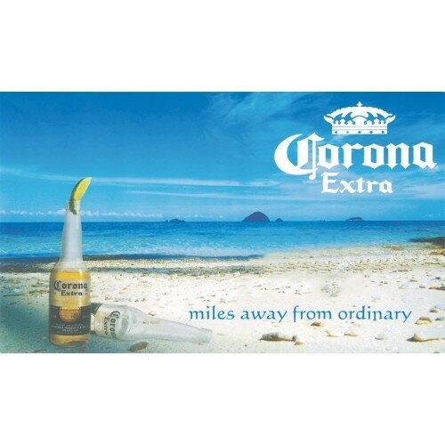 Corona Beach Polyester 3 x 5 ft. Flag by NeoPlex