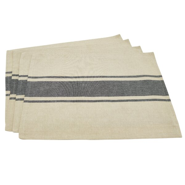 Geil Banded Stripe Cotton Placemat (Set of 4) by Gracie Oaks