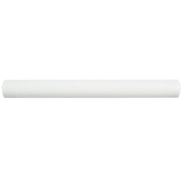 Thira 0.88 x 7.88 Ceramic Liner Tile in Blanco (Set of 12) by EliteTile