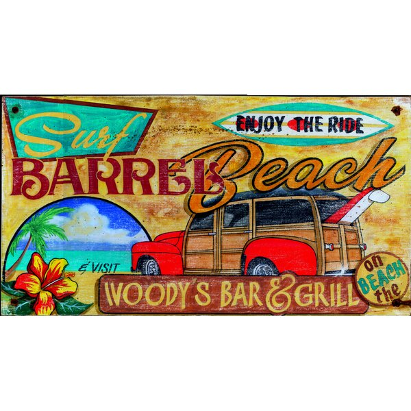 Woody Surf Vintage Advertisement Plaque by Bay Isle Home