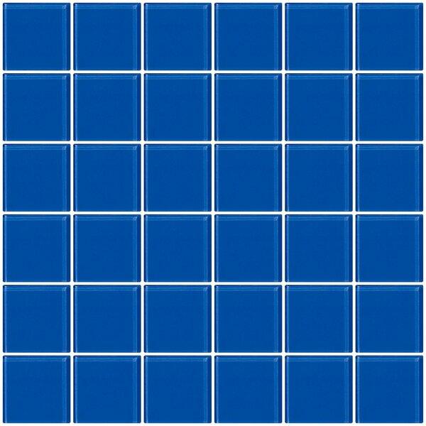 Bijou 22 2 x 2 Glass Mosaic Tile in Periwinkle Blue by Susan Jablon