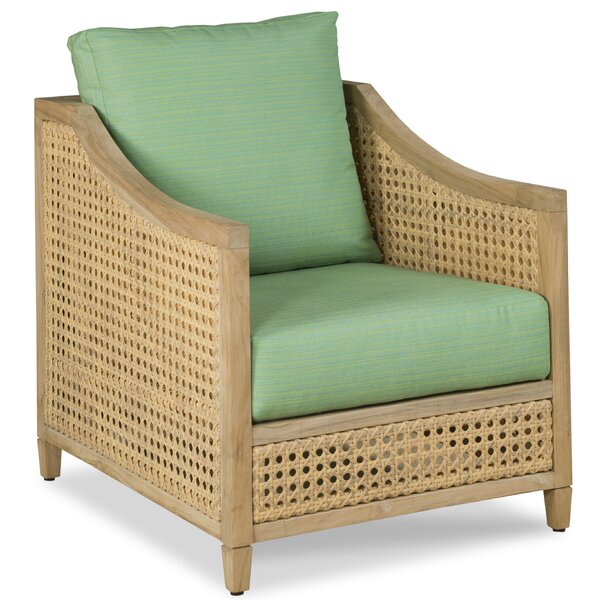 Jupiter Occassional Teak Patio Chair with Sunbrella Cushions by Woodbridge Furniture
