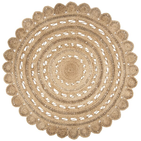 Salerna Hand-Woven Natural Area Rug by Ophelia & Co.