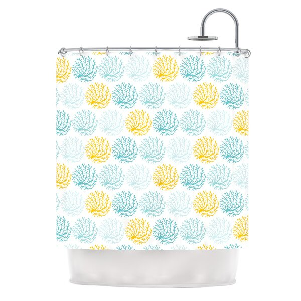 Coralina by Anchobee Shower Curtain by East Urban Home