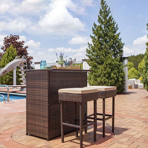 Elizabethtown Outdoor 3 Piece Bar Set by Bayou Breeze