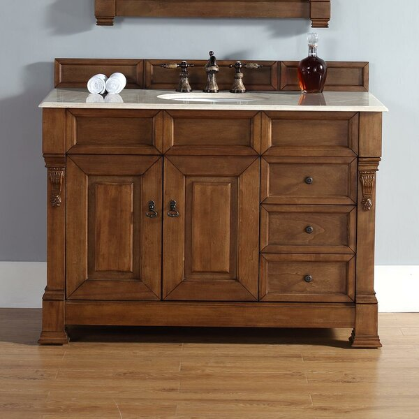 Bedrock 48 Single Country Oak Bathroom Vanity Set with Drawers by Darby Home Co