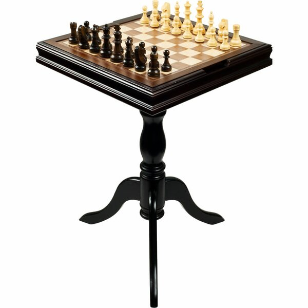 Chess & Games Deluxe Chess & Backgammon Table by Trademark Global