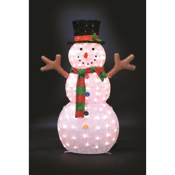 Ice Pattern Snowman Christmas Decoration by The Holiday Aisle
