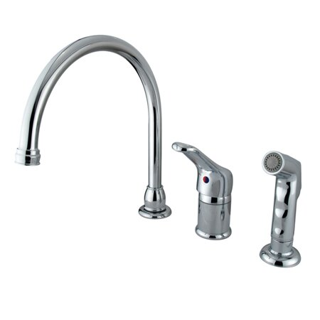 Wyndham Widespread Single Handle Kitchen Faucet with Side Spray by Elements of Design