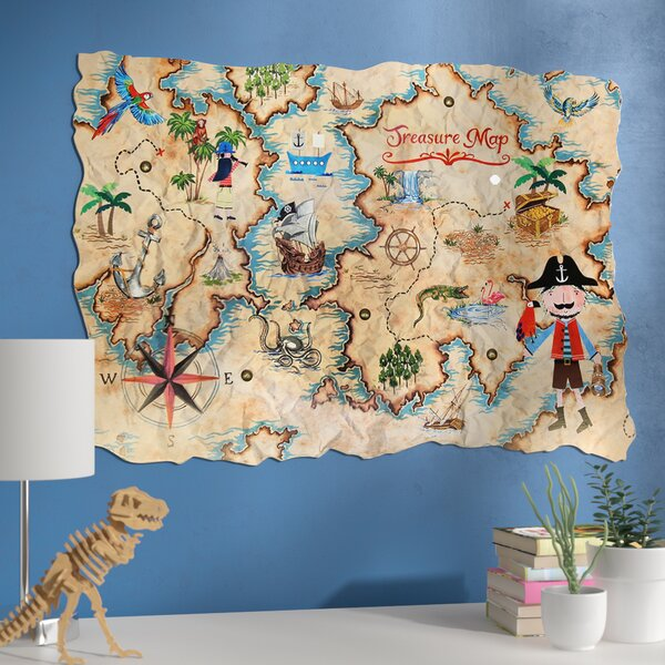 Amie Pirates Ahoy Treasure Map Wall Hanging by Zoomie Kids