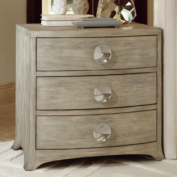 Bow Front 3 Drawer Chest by Global Views