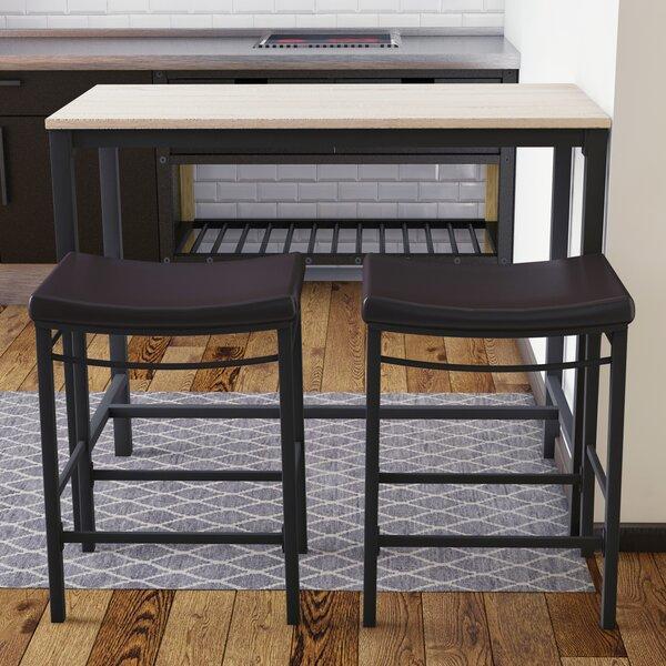 Bezons 3 Piece Pub Table Set by Trent Austin Design