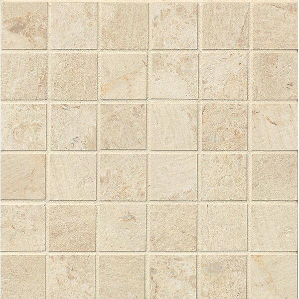 Classic Moderne 2 x 2 Porcelain MosaicTile in Crème by Grayson Martin