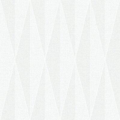 Brewster Home Fashions Wall Vision 33' x 20.9 Zack Diamond Geometric Wallpaper Color: White