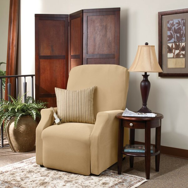 Stretch Pique Box Cushion Recliner Slipcover by Sure Fit