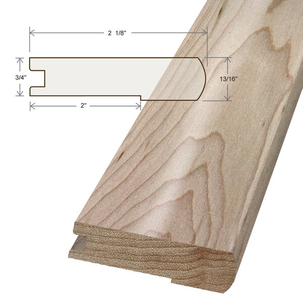 Artistic Finishes 0 745 X 3 125 X 78 Maple Stair Nose Wayfair