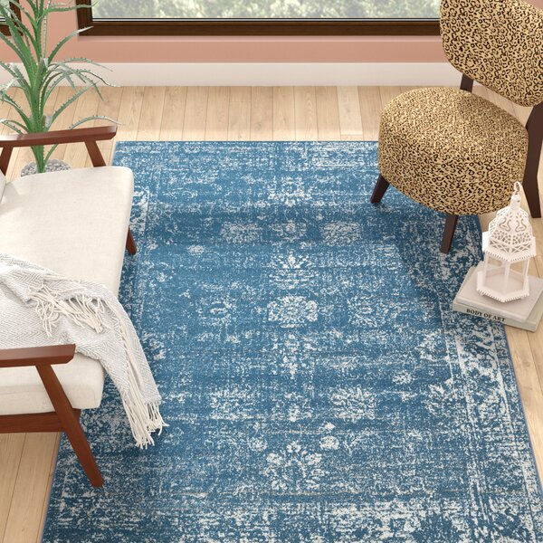 Brandt Blue Area Rug by Mistana