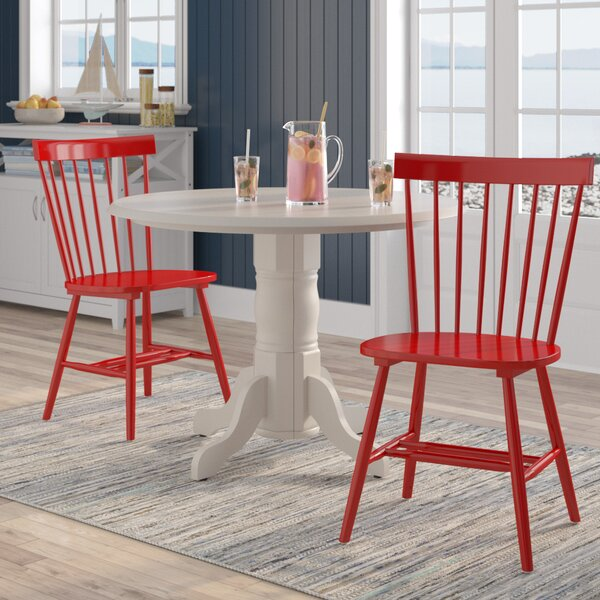 Best #1 Roudebush Solid Wood Dining Chair (Set Of 2) By Beachcrest Home Savings