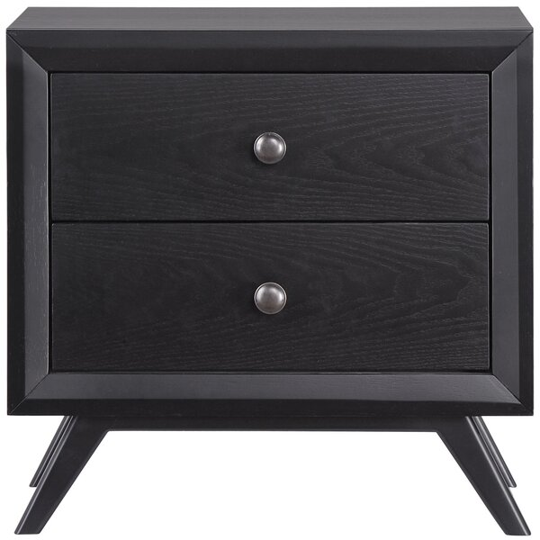 Hannigan 2 Drawer Nightstand by Langley Street