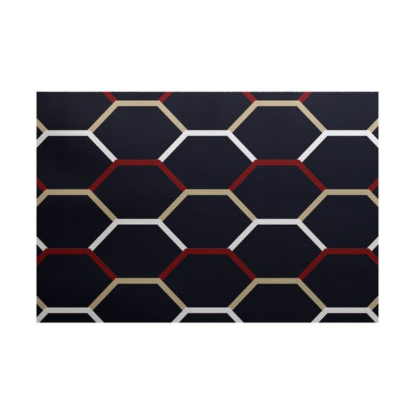 Golden Gate Woven Blue Indoor/Outdoor Area Rug by Beachcrest Home