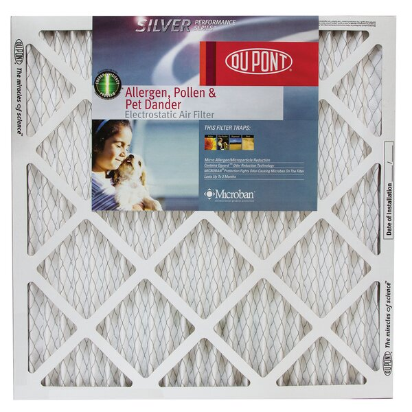 Silver Performance Series Allergen Pollen and Pet Dander Electrostatic Air Filter (Set of 12) by Protect Plus