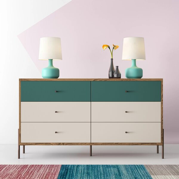 Alviso 6 Drawer Double Dresser By Hashtag Home by Hashtag Home Wonderful