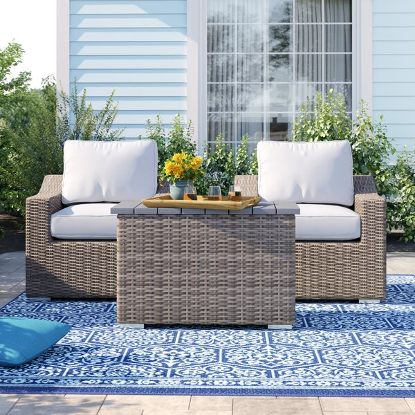 Dayse 3 Piece Conversation Seating Group with Cushions by Sol 72 Outdoor
