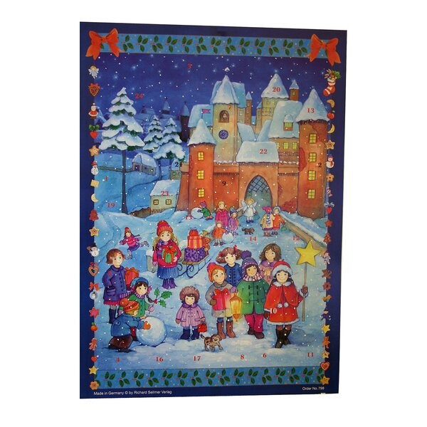 Sellmer Children Playing Outside in Snow Advent Calendar by The Holiday Aisle
