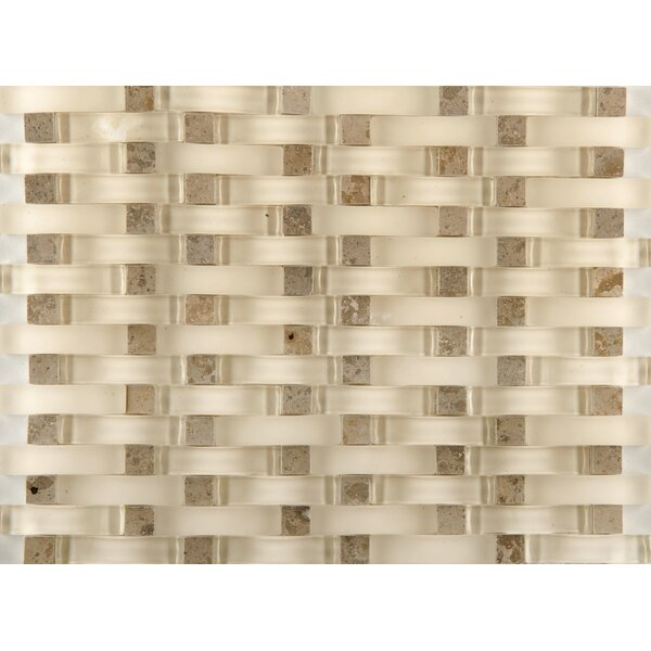 Lucente 12 x 13 Glass Stone Blend Wave Mosaic Tile in Lido by Emser Tile