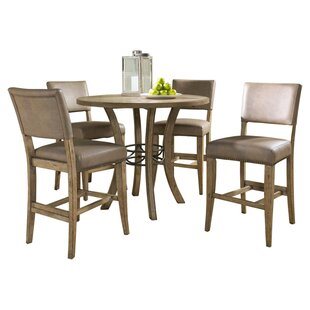 Rude 5 Piece Round Counter Height Dining Set ByGracie Oaks