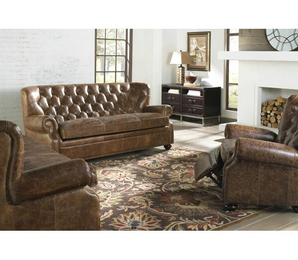 Louis Leather Configurable Living Room Set by Lazzaro Leather