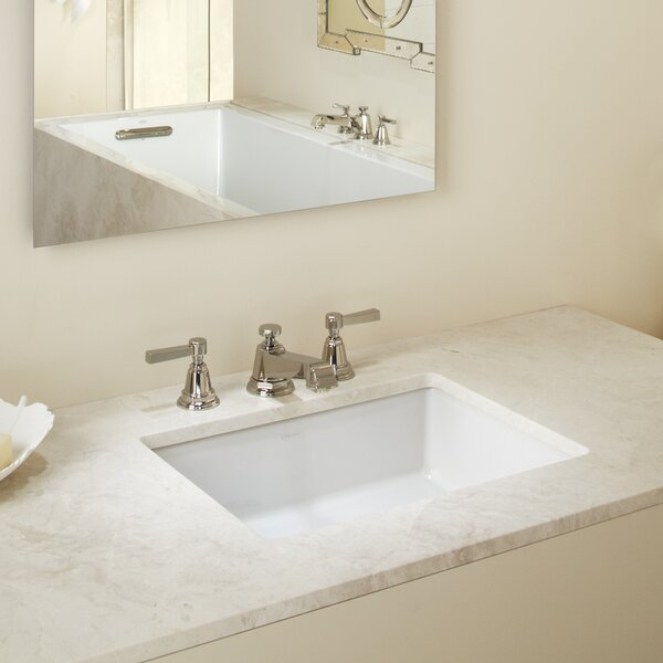 Verticyl Impressions Ceramic Rectangular Undermount Bathroom Sink with Overflow by Kohler